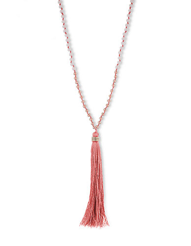 LONNA & LILLYCoral Tassel Necklace