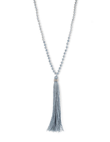 LONNA & LILLYIce Blue Tassel Necklace