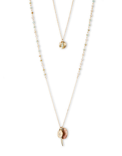 LONNA & LILLY Two Row Pendant Necklace