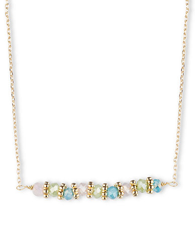 LONNA & LILLYGold Tone and Multi Color Bead Necklace