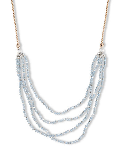 LONNA & LILLY Gold Tone Necklace with Ice Blue Tiered Beading
