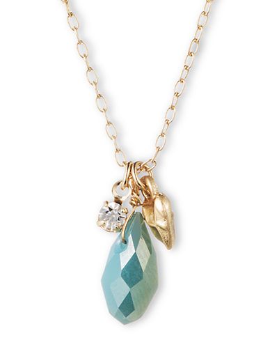 LONNA & LILLY Faceted Turquoise Colored Crystal Pendant Necklace