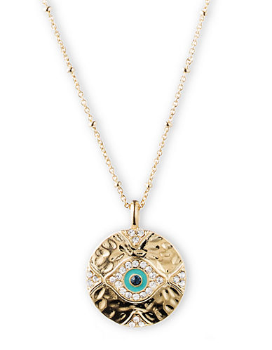 LONNA & LILLY Gold Tone Evil Eye Pendant Necklace