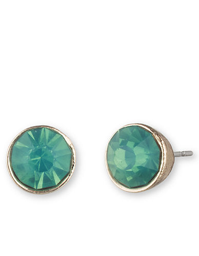 LONNA & LILLY Gold Tone and Aquamarine Stud Earrings