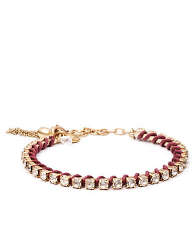 LONNA & LILLY Gold Tone and Cubic Zirconia Corded Bracelet