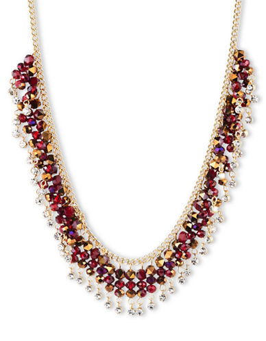 LONNA & LILLYMetallic Gold-Tone and Mixed Bead Shaky Frontal Necklace