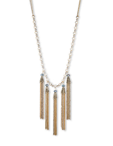 LONNA & LILLY Gold-Tone and Silver-Tone Tassel Frontal Necklace