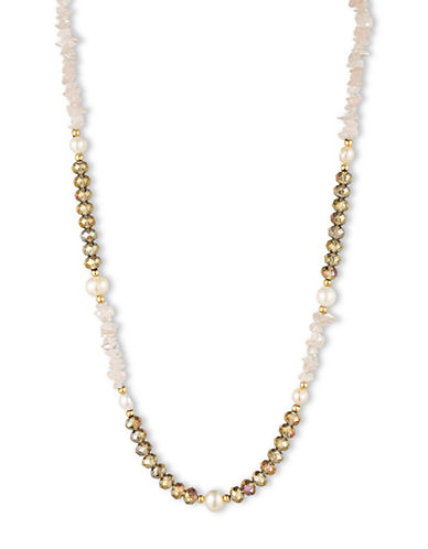 LONNA & LILLYMixed Freshwater Pearl and Bead Layering Necklace