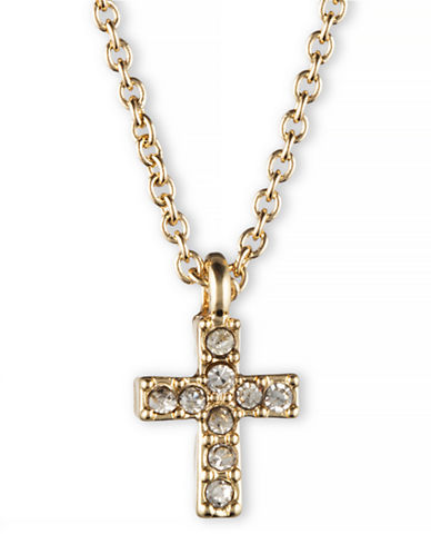 LONNA & LILLY Cubic Zirconia Cross Pendant Necklace