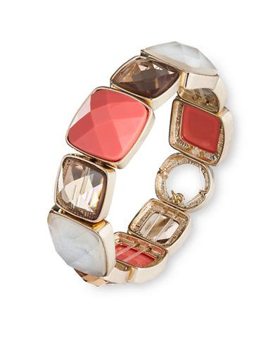 ANNE KLEINGoldtone Coral Stone Stretch Bracelet