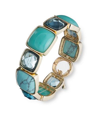 Anne Klein Goldtone Turquoise Stone Stretch Bracelet
