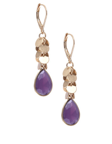 Lonna & Lilly Gold-Plated Cascading Disc Drop Earrings