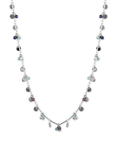 LONNA & LILLY Amethyst Beaded Shaky Necklace