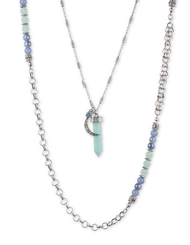 Lonna & Lilly Silvertone Double-Chain Pendant Necklace