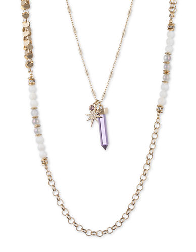 Lonna & Lilly Goldtone Double-Chain Star Pendant Necklace