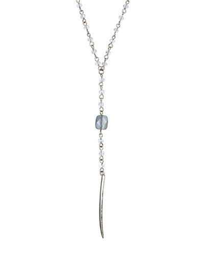 Lonna & Lilly Silvertone Drop Necklace