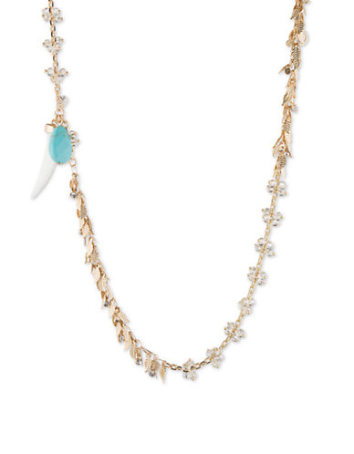 LONNA & LILLY Goldtone Turquoise Shaky Necklace