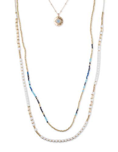 LONNA & LILLY 3-in-1 Evil Eye Beaded Necklace
