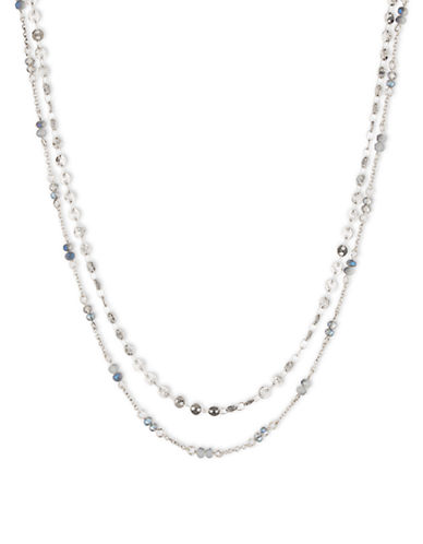 LONNA & LILLY Silvertone Double-Strand Necklace