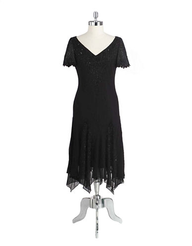 Plus Beaded Cocktail Dress With Godet Skirt plus size,  plus size fashion plus size appare