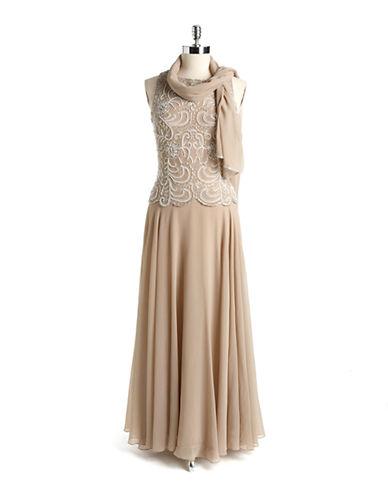 J KARATwo Piece Embellished Sleeveless Gown