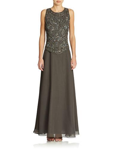 Shop J Kara online and buy J Kara Petite Beaded Gown dress online