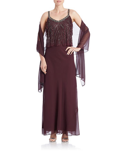 Embellished Sleeveless Gown $139.49 AT vintagedancer.com
