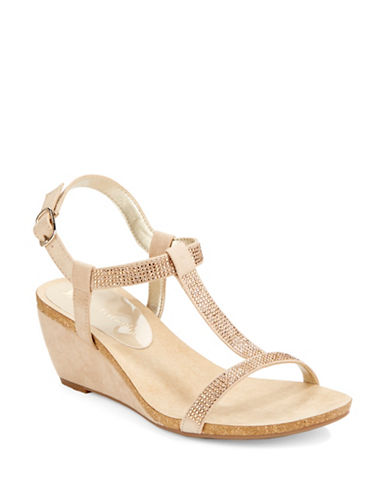 Anne Klein Jovial T-Strap Wedge Sandals
