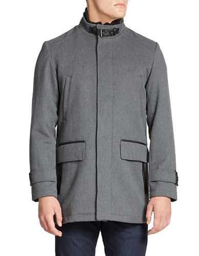 COLE HAAN Wool-Blend Jacket