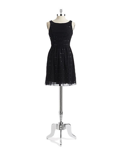 JESSICA SIMPSONSequined Fit and Flare Dress