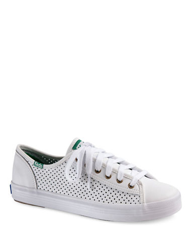 Buy Kickstart Lace-Up Perforated Leather Sneakers by Keds online
