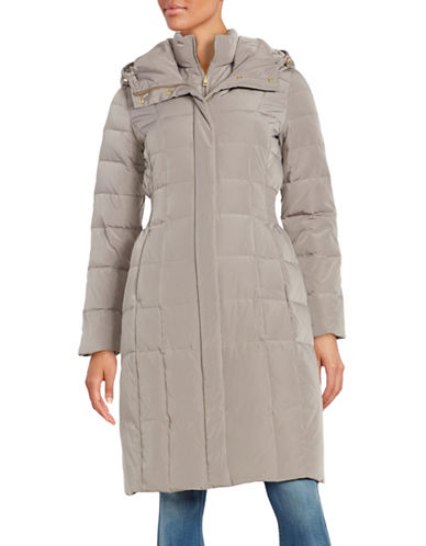 cole haan female 211468 hooded quilted down coat