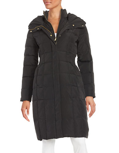 cole haan female 188971 hooded quilted down coat