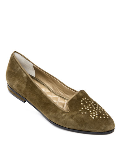 ME TOOBecky Studded Suede Loafers