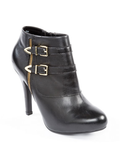 ME TOO Lennon Soft Vachetta Platform Stiletto Booties