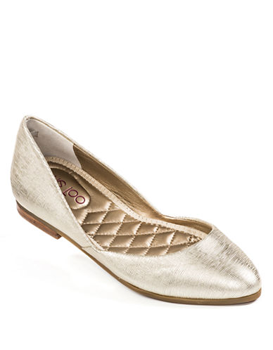 ME TOO Betti Metallic Leather Flats