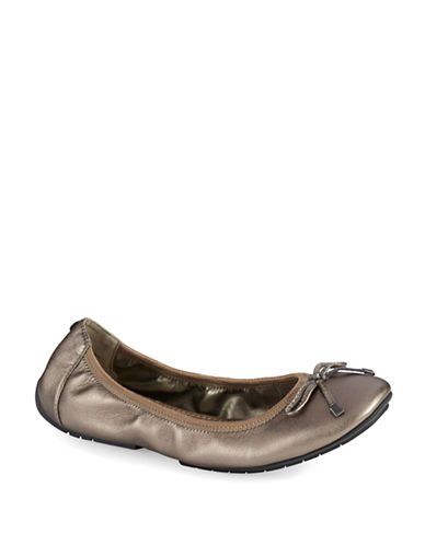 ME TOO Halle Metallic Leather Ballet Flats