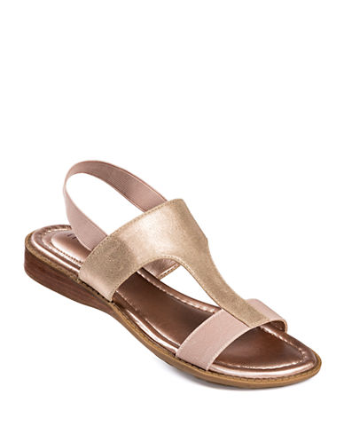 ME TOO Zoey Metallic Leather Sandals