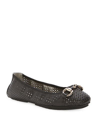 Buy Lacey Leather Perforated Flats by Me Too online