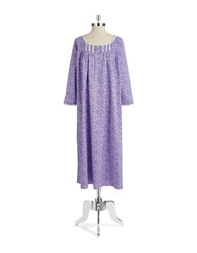 Eileen West Embroidered Cotton Nightgown