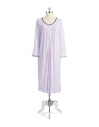 EILEEN WESTEmbroidery-Accented Nightgown