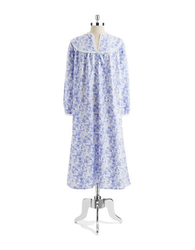 LANZFlannel Floral Nightgown