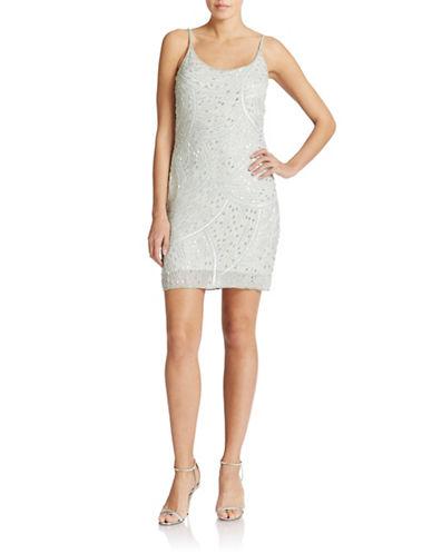 Shop Aidan Mattox online and buy Aidan Mattox Embellished Slip Dress dress online