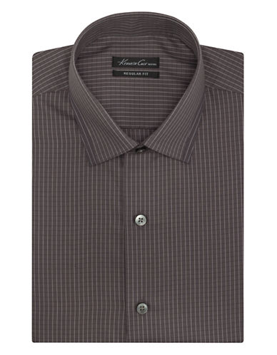 KENNETH COLE NEW YORKSlim Fit Graphic Check Non-Iron Dress Shirt