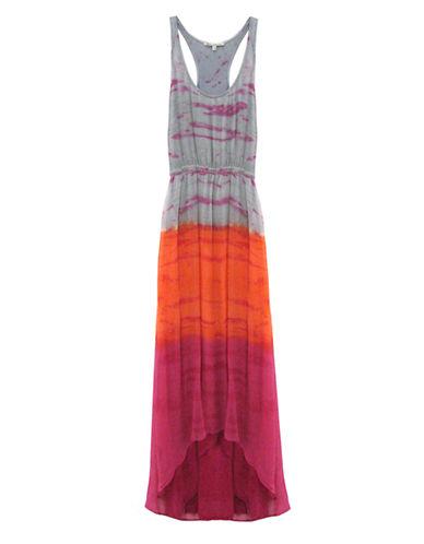 RED HAUTETie Dye Chiffon Maxi Dress