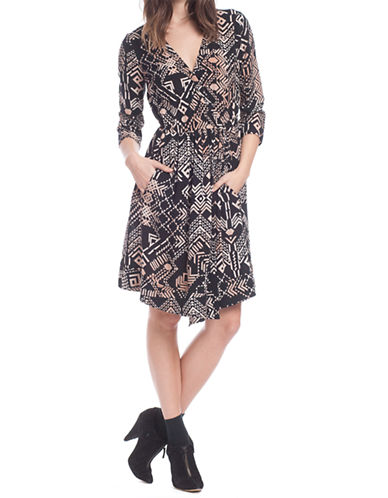 Shop Plenty By Tracy Reese online and buy Plenty By Tracy Reese Graphic Print Faux Wrap Dress dress online