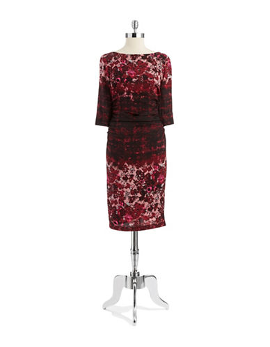 Shop Tracy Reese online and buy Tracy Reese Floral Crepe Dress dress online