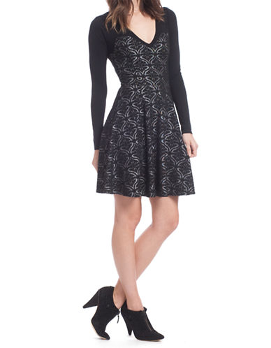 PLENTY BY TRACY REESEPatterned Fit and Flare Dress