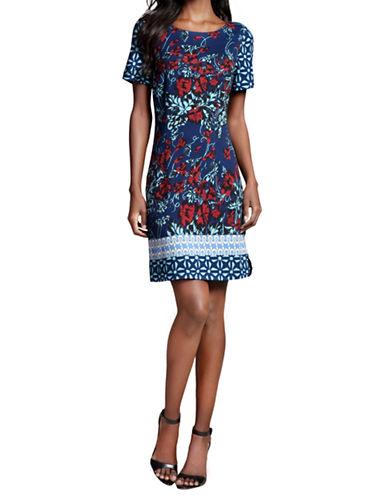 PLENTY BY TRACY REESEPrinted Ponte Shift Dress