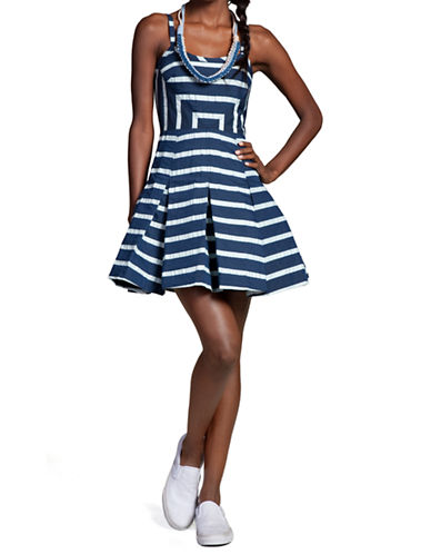 Shop Plenty By Tracy Reese online and buy Plenty By Tracy Reese Pleated Stripe Dress dress online
